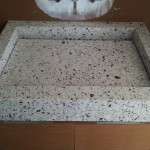 Custom silestone sink with false bottom