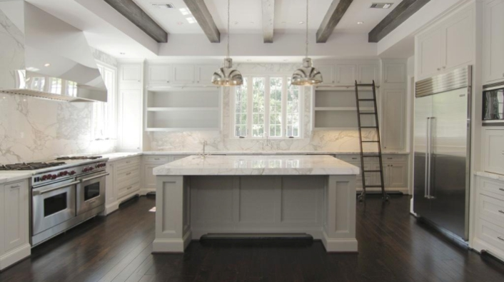Marble Kitchen Full Height Backsplash