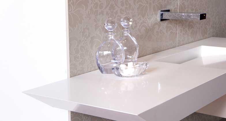 Pure White Caesarstone Miami Circle Marble Amp Fabrication