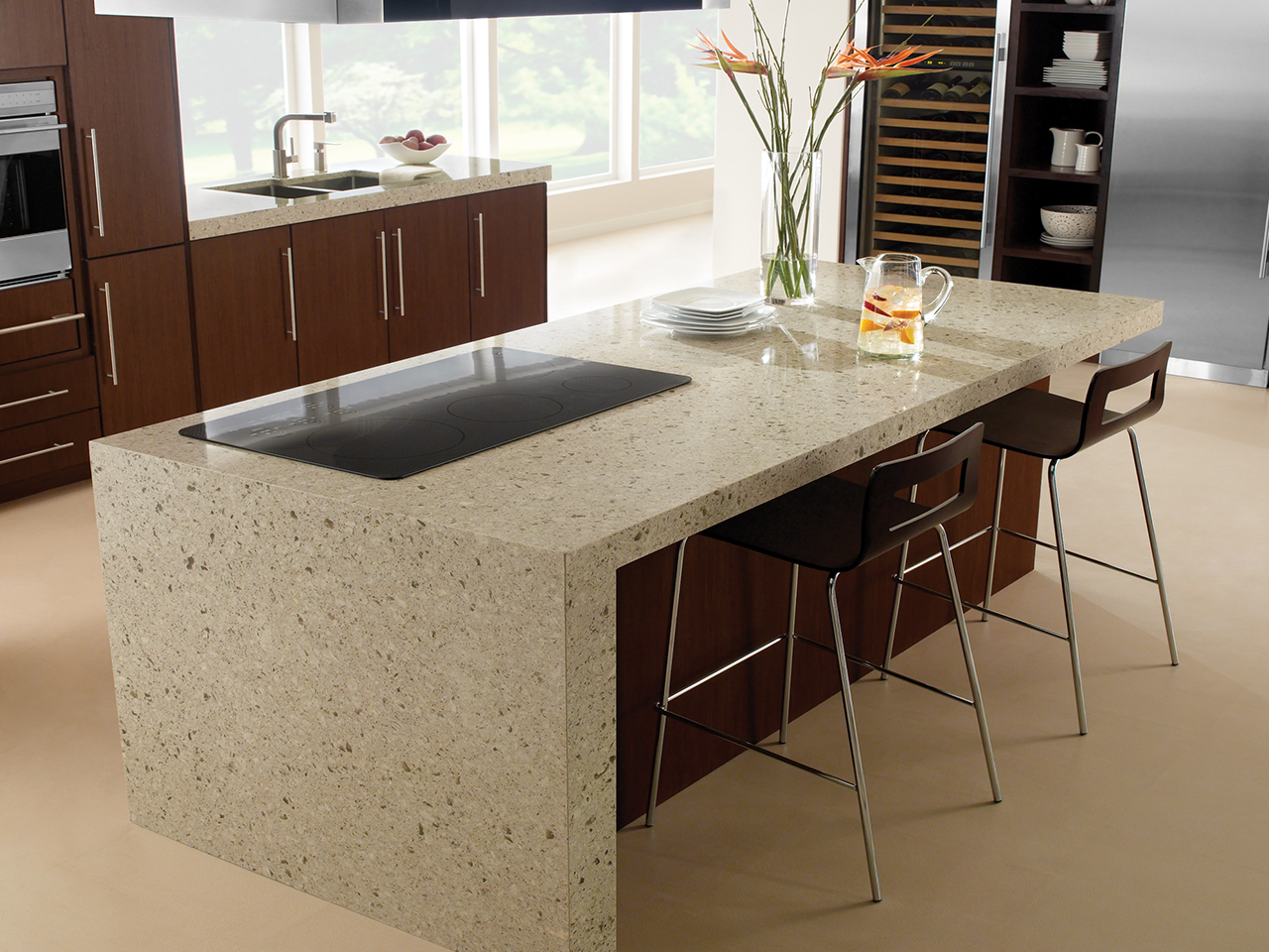 Darlington cambria miami circle marble fabrication for Cambria slab size