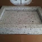 Custom silestone sink with false bottom