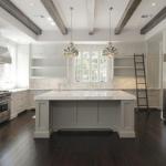 Calcutta Gold marble-kitchen-full-height-backsplash