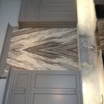 Fantasy Brown Quartzite book matched accent wall