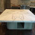 book-matched-Calacatta Borghini marble-island