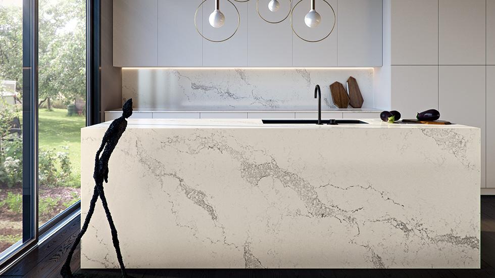 Statuario Maximus Caesarstone Miami Circle Marble