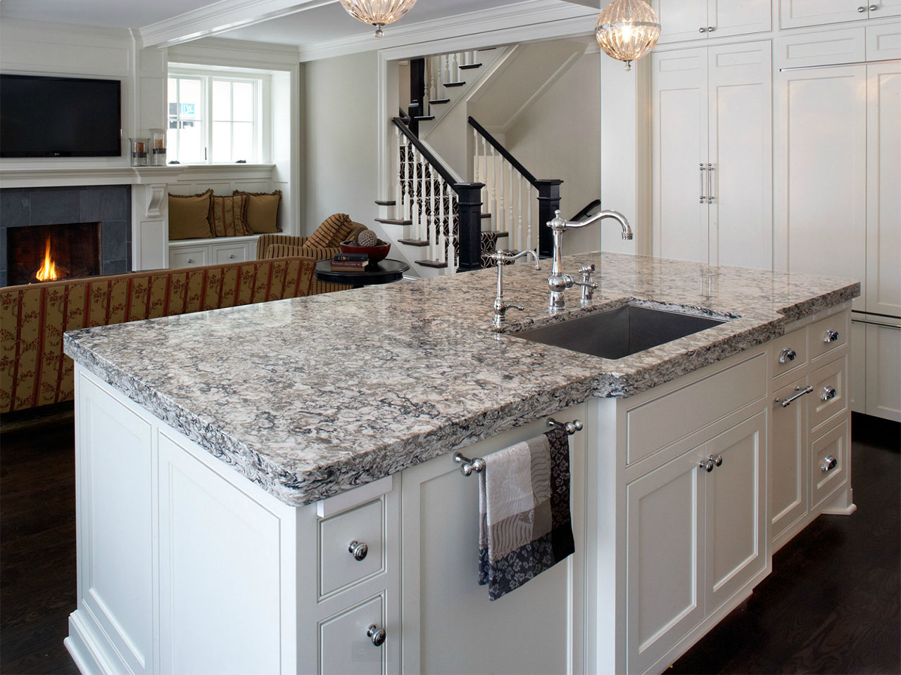 Rose Quartz Kitchen Countertops
